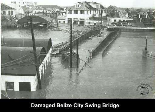 Damaged Belize City Swing Bridge