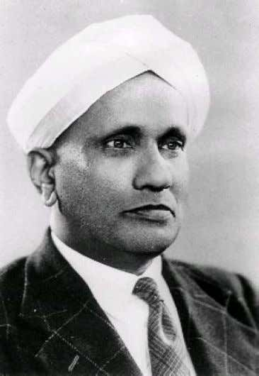 C.V Raman 1930 - Nobel Laureate in Physics Work on scattering of light and Raman effect