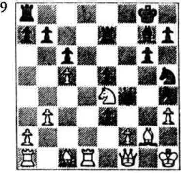 Qxa3 2 Qe6 Nd8 (the only I . . Qxe l mate, play continued I Sampomo