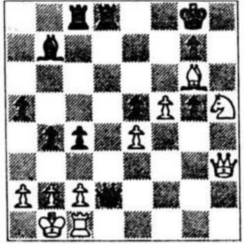 onto a square where it can be attacked by the white rook with �ain of time.