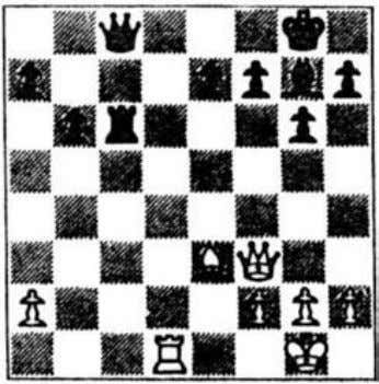 typical back-rank mate is seen in our next diagram. 21 Composed position White wins by 1