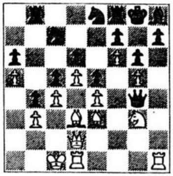 So 1 Rf8++! Kxf8 2 Ng6+ hxg6 3 Qh8 mate is the answer. 61 Schiljejev (black)