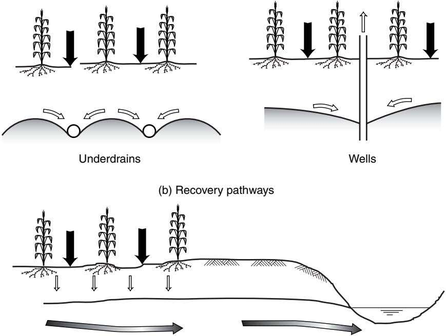 Underdrains Wells (b) Recovery pathways
