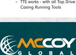 – TTS works - with all Top Drive Casing Running Tools