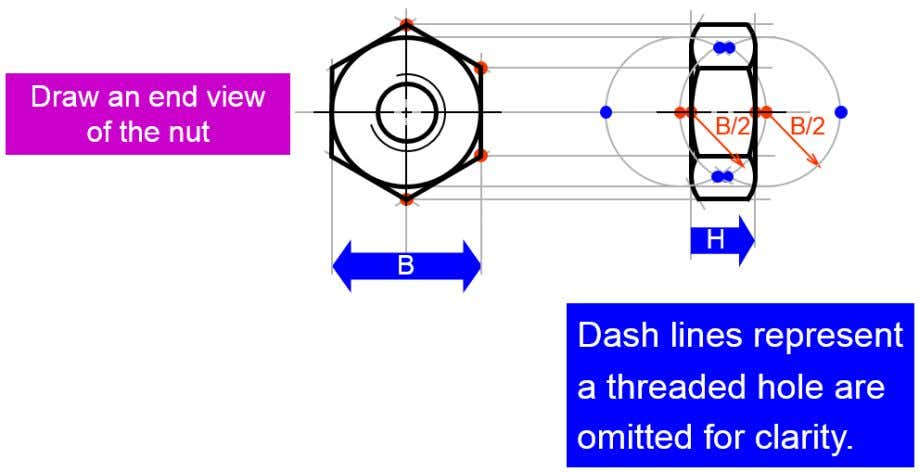 Dash lines represent a threaded hole are omitted for clarity  Application of bolt and nut