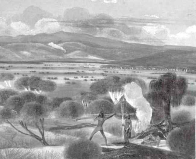 View on the Glenelg plains ca. 1837 by J.A. Thomas (NLA) The Commissioners suggested it was
