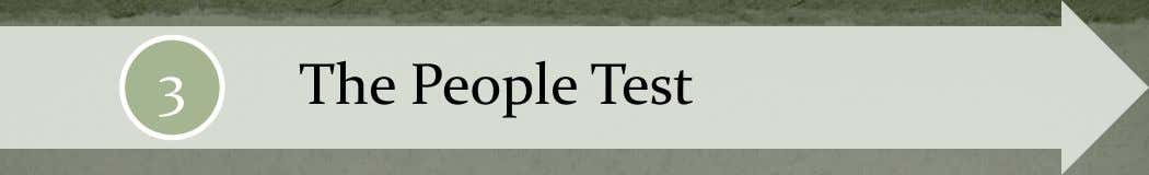 3 The People Test