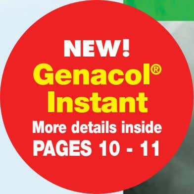 NEW! Genacol ® Instant More details inside PAGES 10 - 11