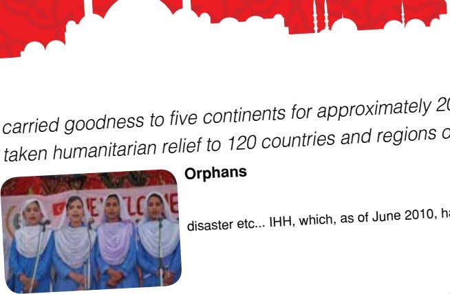 volunteers the IHH Humanitarian With the support of carried goodness to five continents taken humanitarian