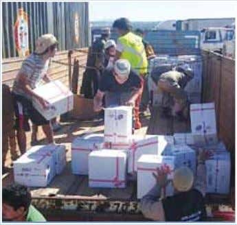 36 ACTIVITIESARAŞTIRMA Emergency aid Support for earthquake victims in Chile A fter Haiti, IHH has now