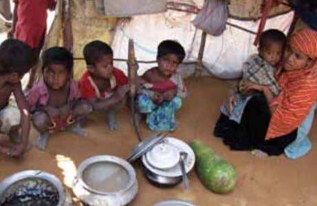 camp thirst, starvation, epidemics and poverty are common. T he drama of the Arakan people, under