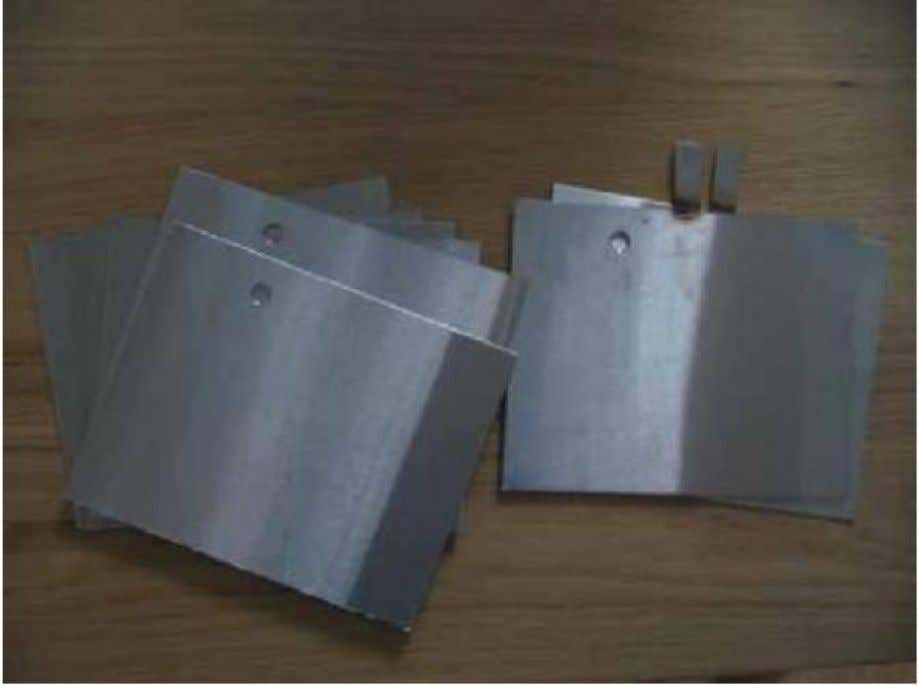 Figure 2. Stainless steel electrolyzer plates (8 total) Nine spacers (Figure 3) were cut out