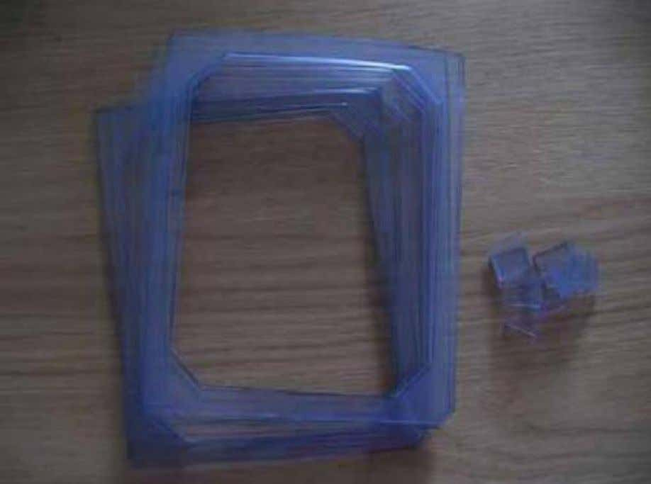 Figure 3. Soft PVC spacers rings The end plates (Figure 4) were cut out of