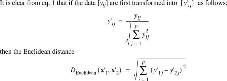 It is clear from eq. 1 that if the data [ y ij ] are