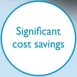 Significant cost savings