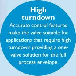 High turndown Accurate control features make the valve suitable for applications that require high turndown