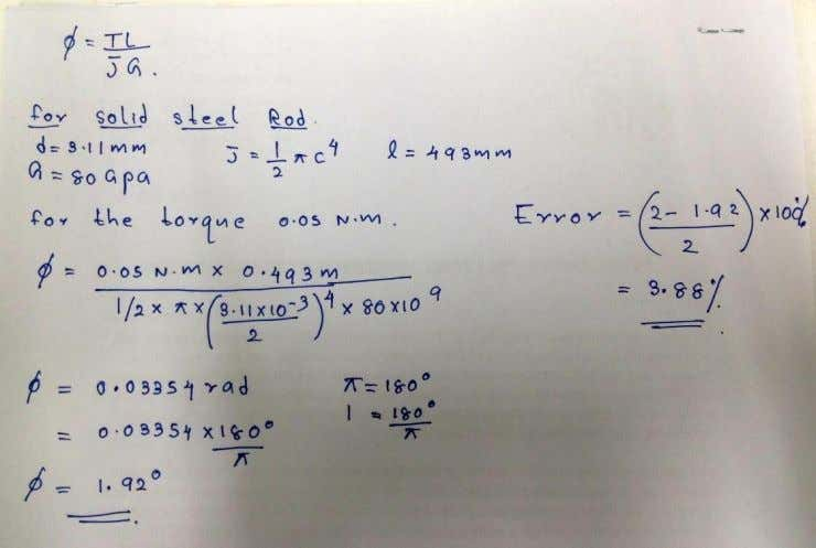 Sample calculations  For solid steel rod 8 of 9