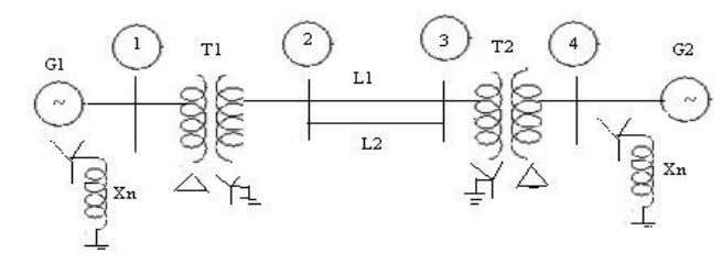 9. A symmetrical fault occurs on bus 4 of system through Z f =j0.14 pu in