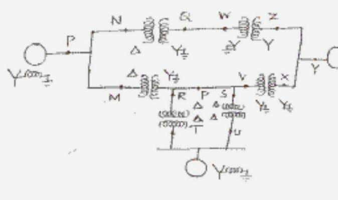 per unit. (16) 4. Develop the sequence network for a double line to ground (LLG) fault.
