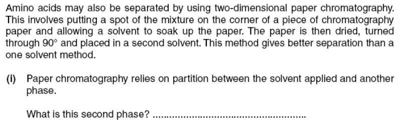 CHM1313 Separation Techniques used in Analytical Chemistry Question 9