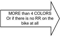 MORE than 4 COLORS Or if there is no RR on the bike at all