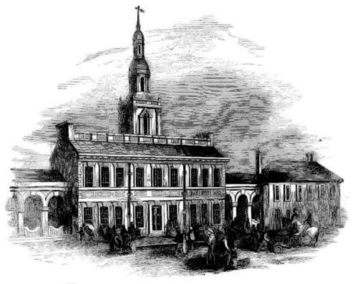 Vol. 3, Number 14, July 1851, by Harper and Brothers. THE STATE HOUSE, OR INDEPENDENCE HALL,