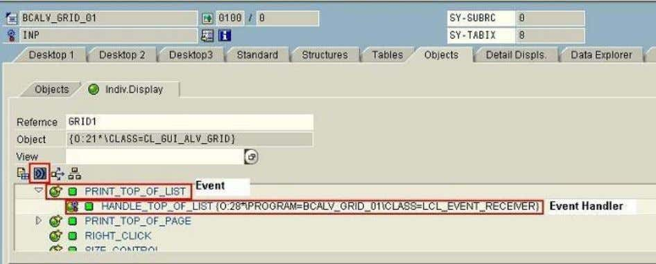 their corresponding handlers are shown. this displays a Skip breakpoints The new ABAP debugger gives an