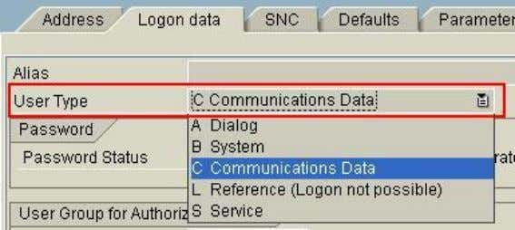 ABAP Debugging Tips and Tricks Note: User type for the RFC User (transaction SU01D) Debugging a