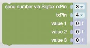 Send maximum 3 numbers to Sigfox This sends maximum 3 numbers to Sigfox