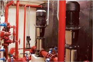 Plumbing system  Fire fighting system  Duty and stand by pumps