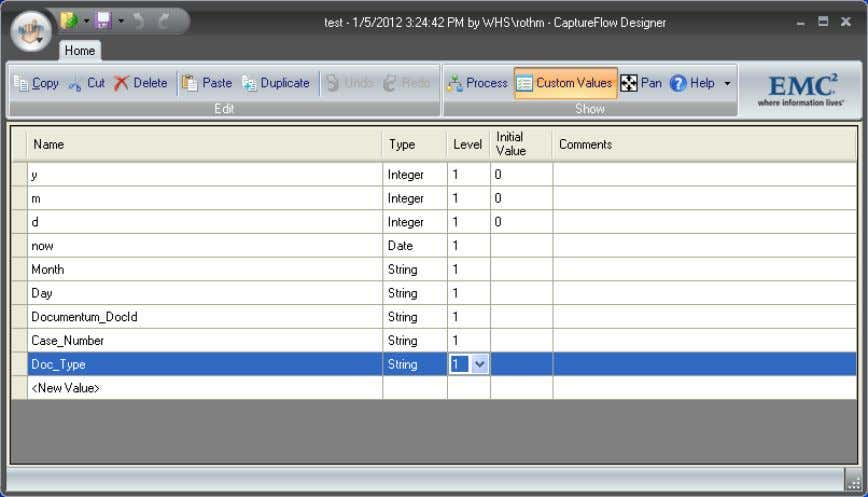 value definition window will be opened (see Figure 5). Figure 5 Custom Value Definition Window Simply
