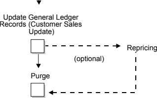 Update General Ledger Records (Customer Sales Update) Repricing (optional) Purge