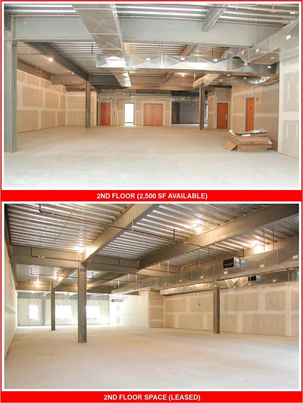 2ND FLOOR (2,500 SF AVAILABLE) 2ND FLOOR SPACE (LEASED)