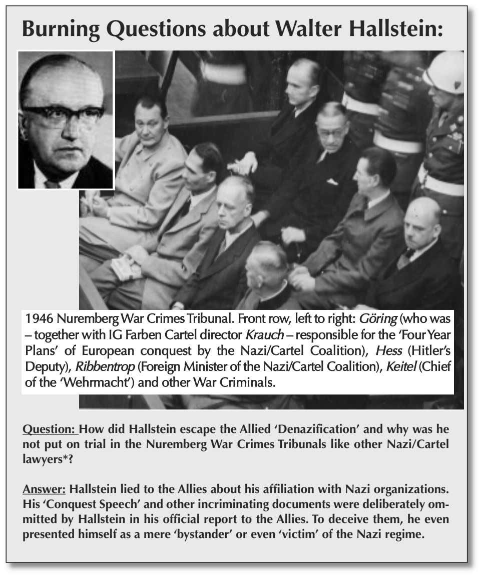 Burning Questions about Walter Hallstein: 1946 NurembergWar CrimesTribunal. Front row, left to right: Göring (who