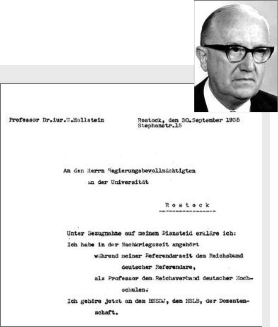 Chapter 2 Before and During WWII Hallstein Was a Member of Official Nazi Organizations As part