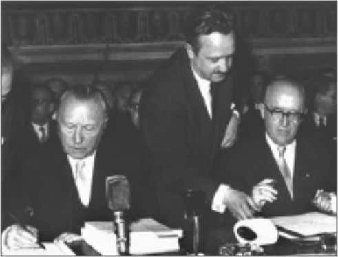 created the 'European Economic Community' and EURATOM. By signing these treaties Hallstein (together with German