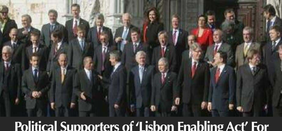 Corporate Dictatorship 1939 Corporate Dictatorship 1957 Political Supporters of'Lisbon EnablingAct' For the