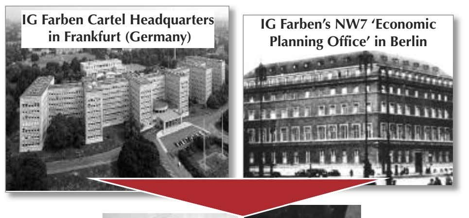 IG Farben Cartel Headquarters in Frankfurt (Germany) IG Farben's NW7 'Economic Planning Office' in Berlin
