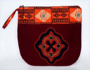 Cosmetic bag designed for travel.