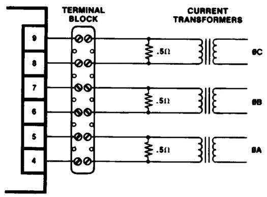 across the Load Signal terminals 11 (–) and 13 (+). Figure 3-2. Temporary Wiring for Transformer
