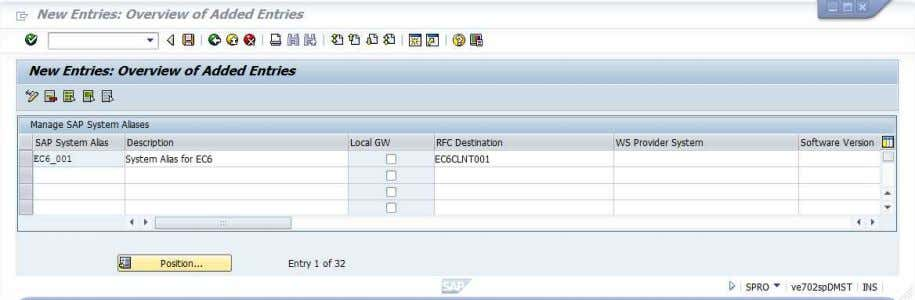 Save the settings. Create a customizing request when needed. 87. Go back to SPRO SAP Reference