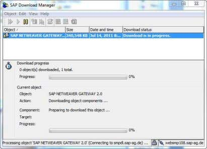 your SAP Download Manager and start the download of the bit 4. A ZIP file will