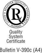Quality System Certificate Bulletin V-390c (A4)
