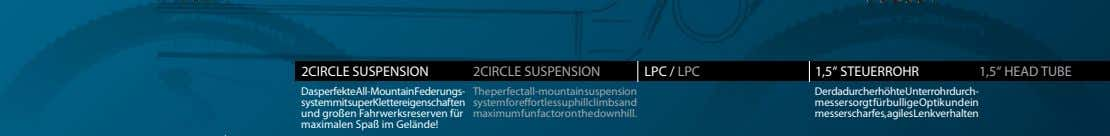 "2CIRCLE SUSPENSION 2CIRCLE SUSPENSION LPC / LPC 1,5"" STEUERROHR 1,5"" HEAD TUBE DasperfekteAll-MountainFederungs-"