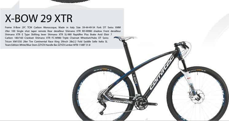 "X-BOW 29 XTR Frame X-Bow 29"", TCM Carbon Monocoque, Made in Italy Size 39-44-49-54 Fork"