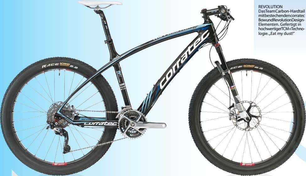 REVOLUTION DasTeamCarbon-Hardtail mitbestechendencorratec BowundRevolutionDesign- Elementen. Gefertigt in