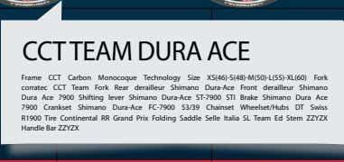 position for all riders and all physiques and leg lengths CCT TEAM DURA ACE Frame CCT