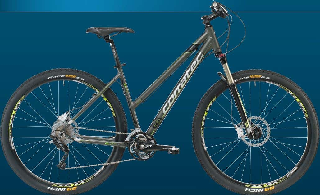 AUFFALLEND SCHÖNE LEISTUNGSSPORTLERIN C-29ERCROSS THE PERFECT FUSION OF TREKKING AND MOUNTAIN BIKE C-29ER