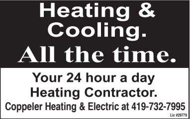 Coppeler Heating & Electric at 419-732-7995 Lic #29779