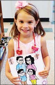 place for the kindergarten through second grade di- vision. Katelynne, 5, was the first- place winner